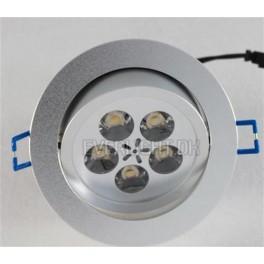 LED Dæmpbar Indbygningsspot 5 x 1 Watt Dioder