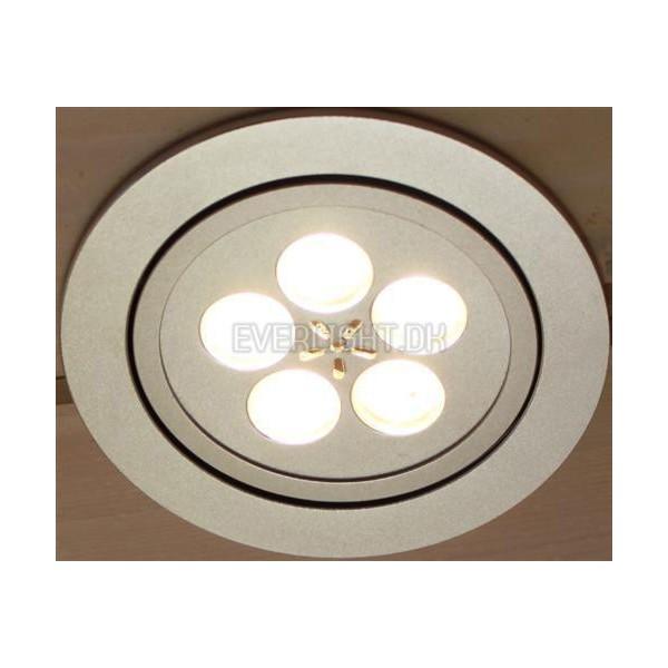 Fantastisk LED Dæmpbar Indbygningsspot 5 x 1 Watt Dioder PJ62