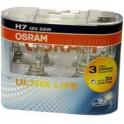 H7 Osram Ultra Life 12V 55W Twin Pack pæresæt.